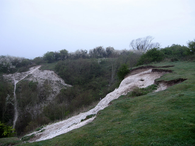 Disused Chalk Pit, Highdown Hill - geograph.org.uk - 1250533