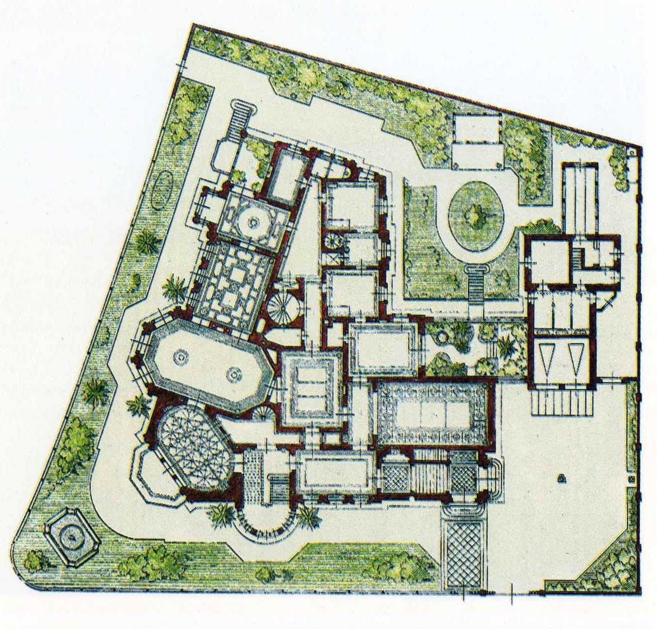 Grundriss Villa