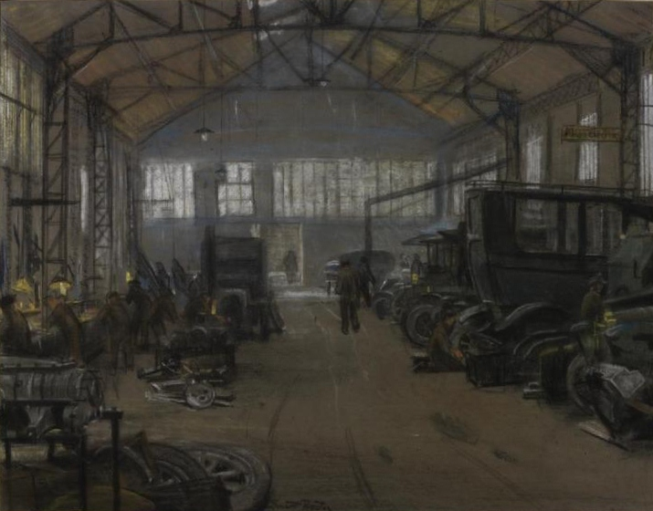 File ernest procter the interior of a garage boulogne for Garage st omer