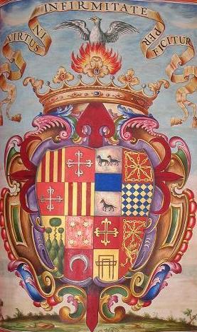 Español: Escudo del primer marqués de Montesa