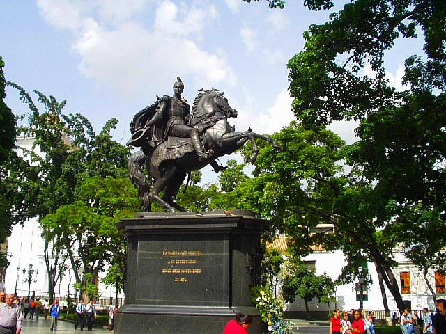 مجسمه بولیوار، ونزوئلا.