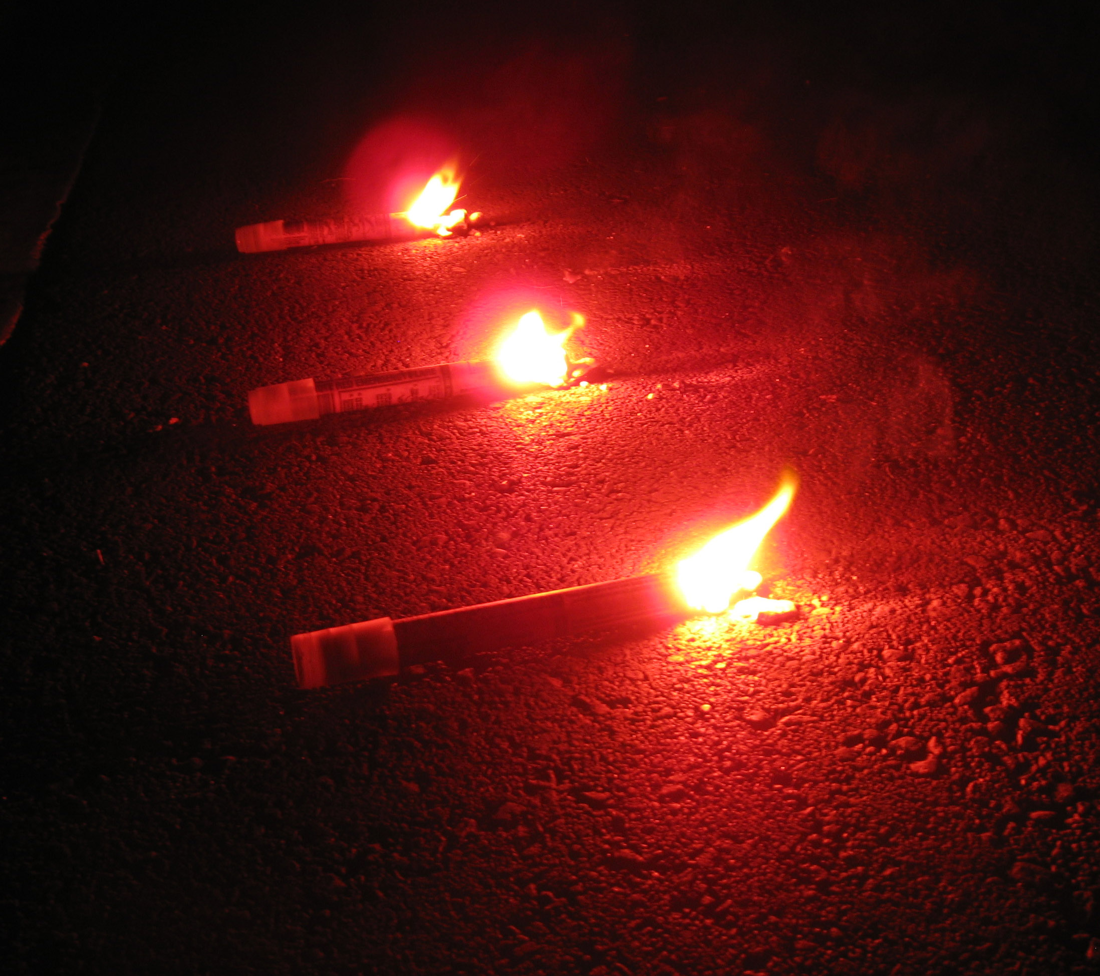 Usage of flares to attract help