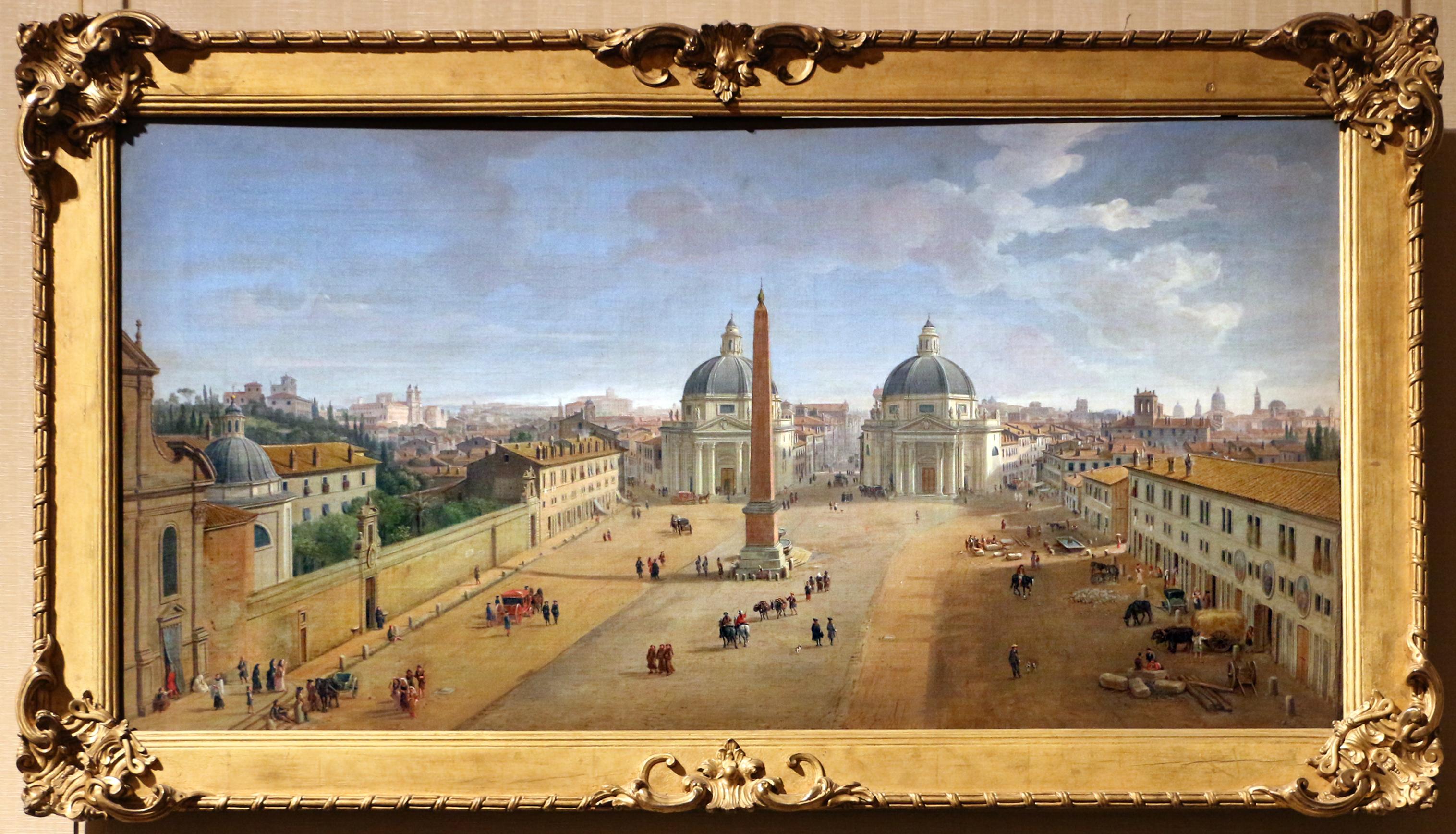 File:Gaspar van wittel, veduta di roma con piazza del popolo, 1718.