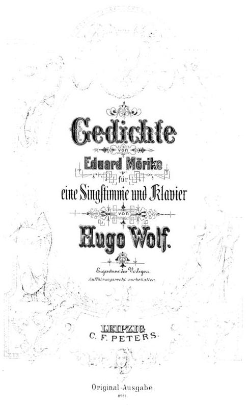 Filegedichte Von Eduard Mörike Für Eine Singstimme Und