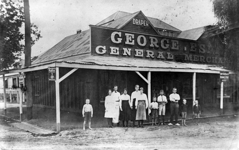 George Espie's drapery store, Charleville, ca. 1918