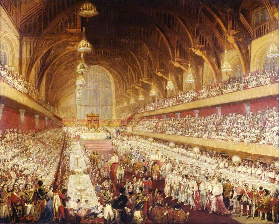 George IV coronation banquet - Royal Wedding Jerusalem