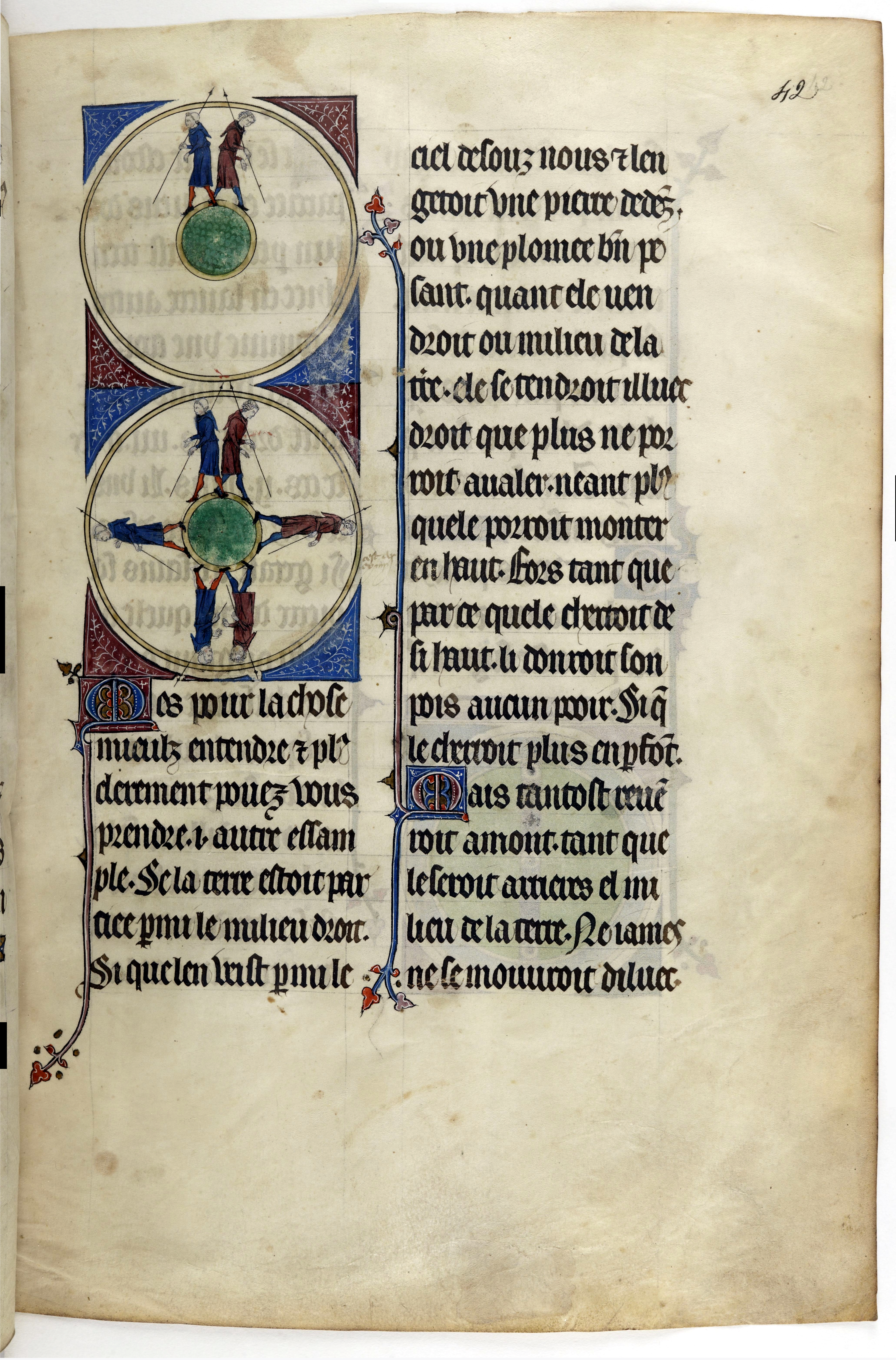 llustration of the spherical earth in a medieval manuscript.