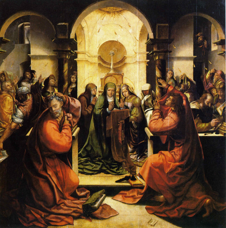 File:Grão Vasco, Pentecostes, da capela da portaria do mosteiro de Santa  Cruz