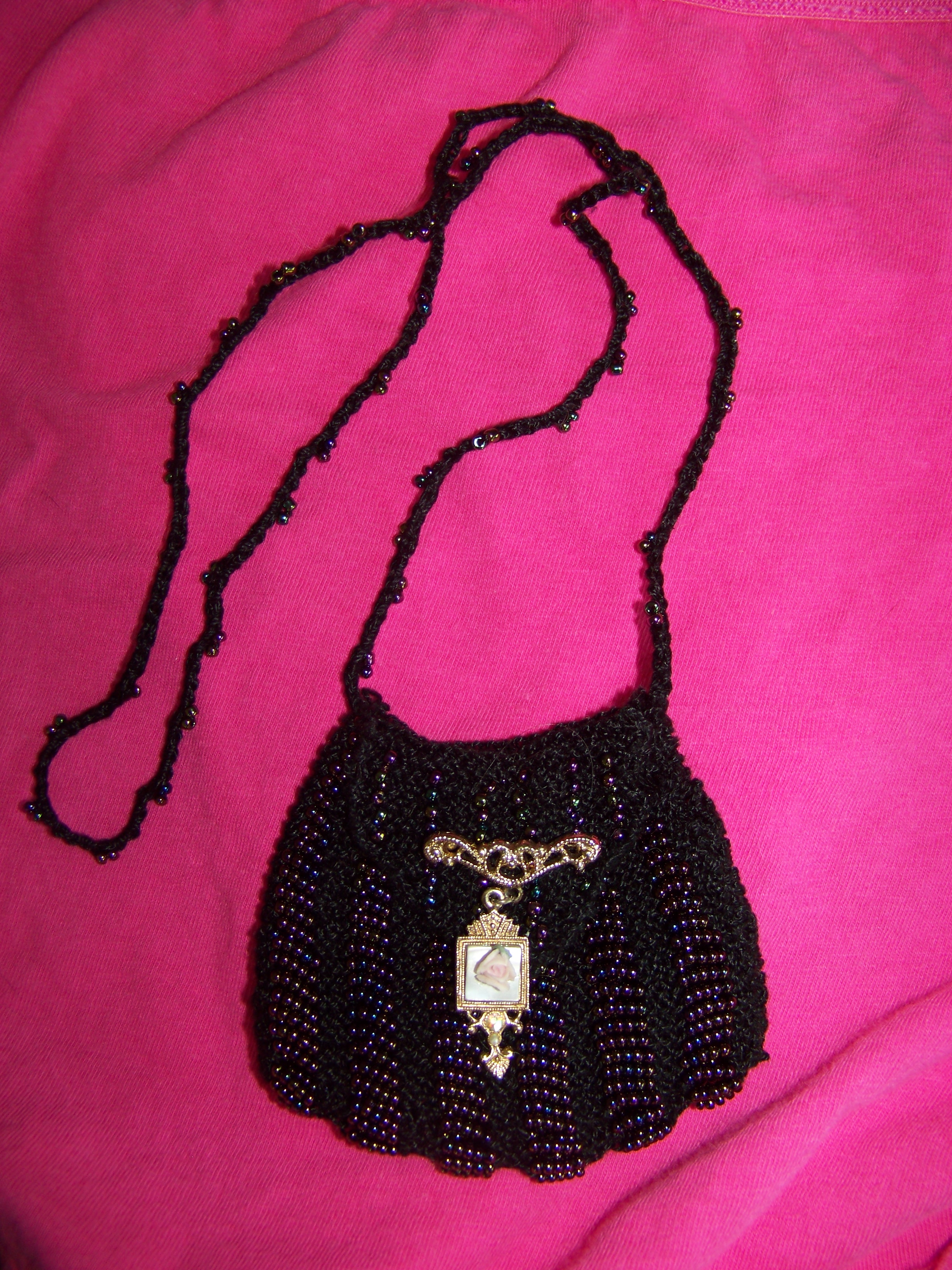 pendant purse it bag necklace jewellery vintage