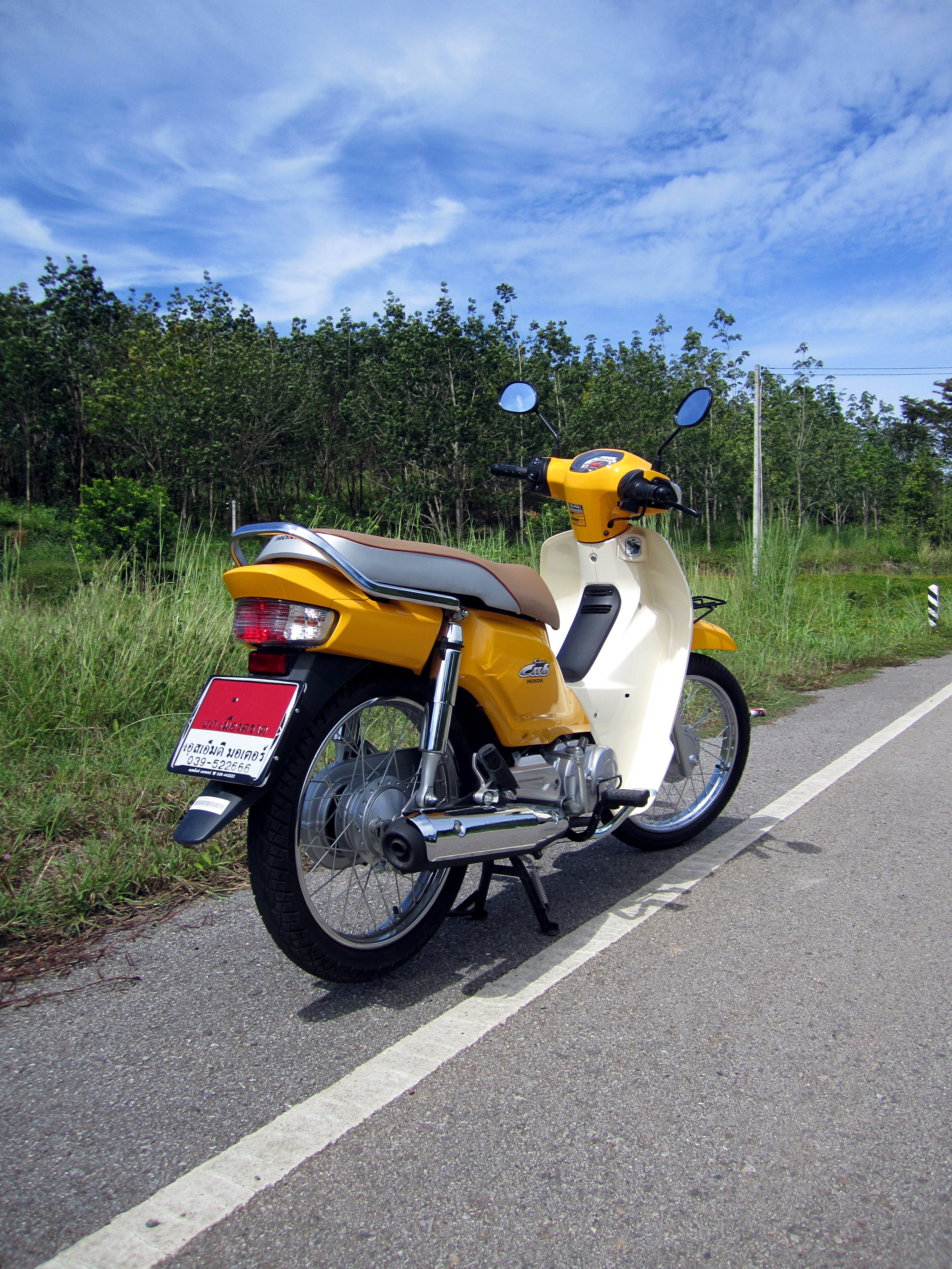 File Honda Dream 110i Super Cub Nd110m 2014 Rear View Jpg Wikimedia Commons