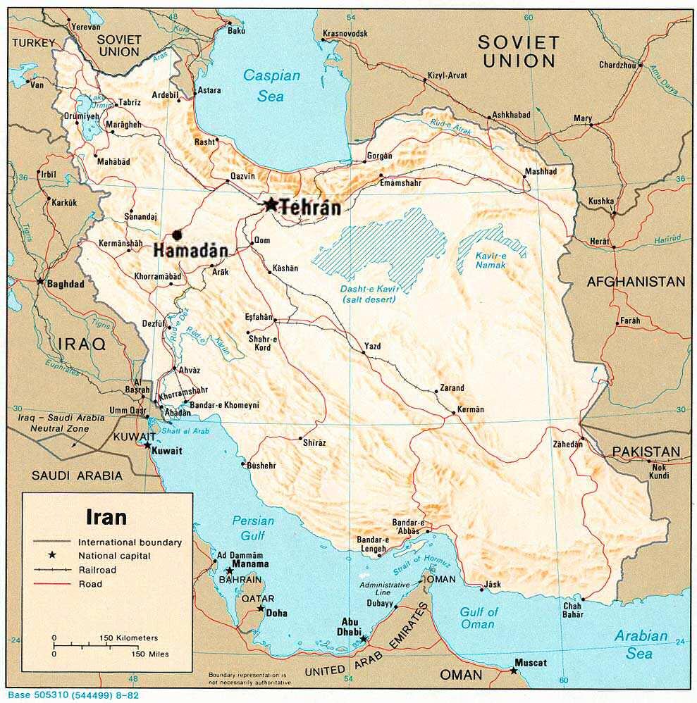 Mapa de la región en 1976.