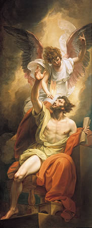 Prophetic inspiration: Isaiah's Lips Anointed with Fire, by Benjamin West