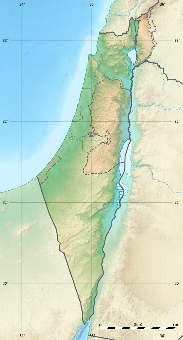 Karte Israels und der palästinensischen Gebiete. (Quelle: Sting via Wikimedia Commons unter CC-BY-SA 3.0 Lizenz)
