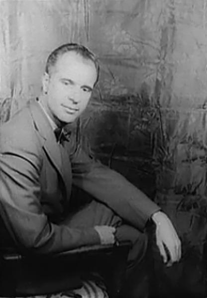John Hersey, 1958,<br> photographed by [[Carl Van Vechten]]