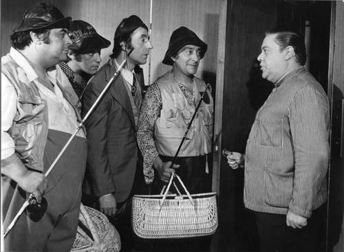 De izquierda a derecha Jorge Porcel, Chico Novarro, Tristán Ocampo