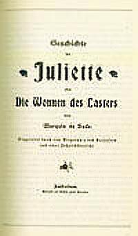 """Γερμανική έκδοση της """"Juliette""""το 1892."""