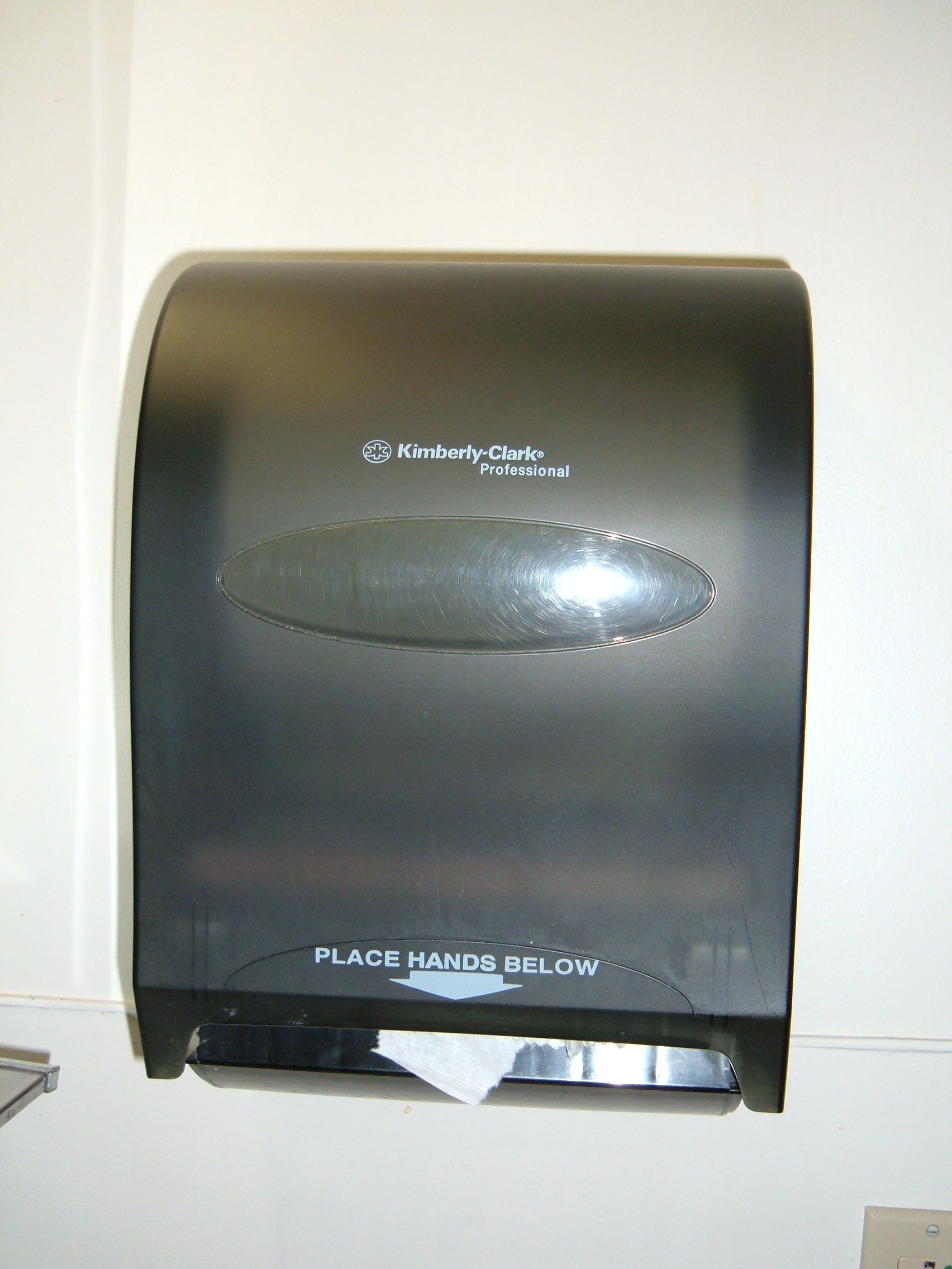 File:Kimberly Clark Automatic Paper Towel Dispenser.JPG