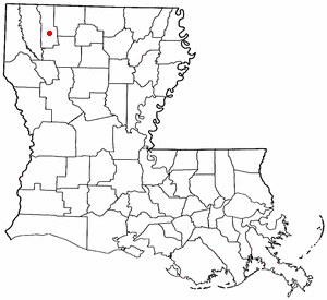 Location of Minden, Louisiana
