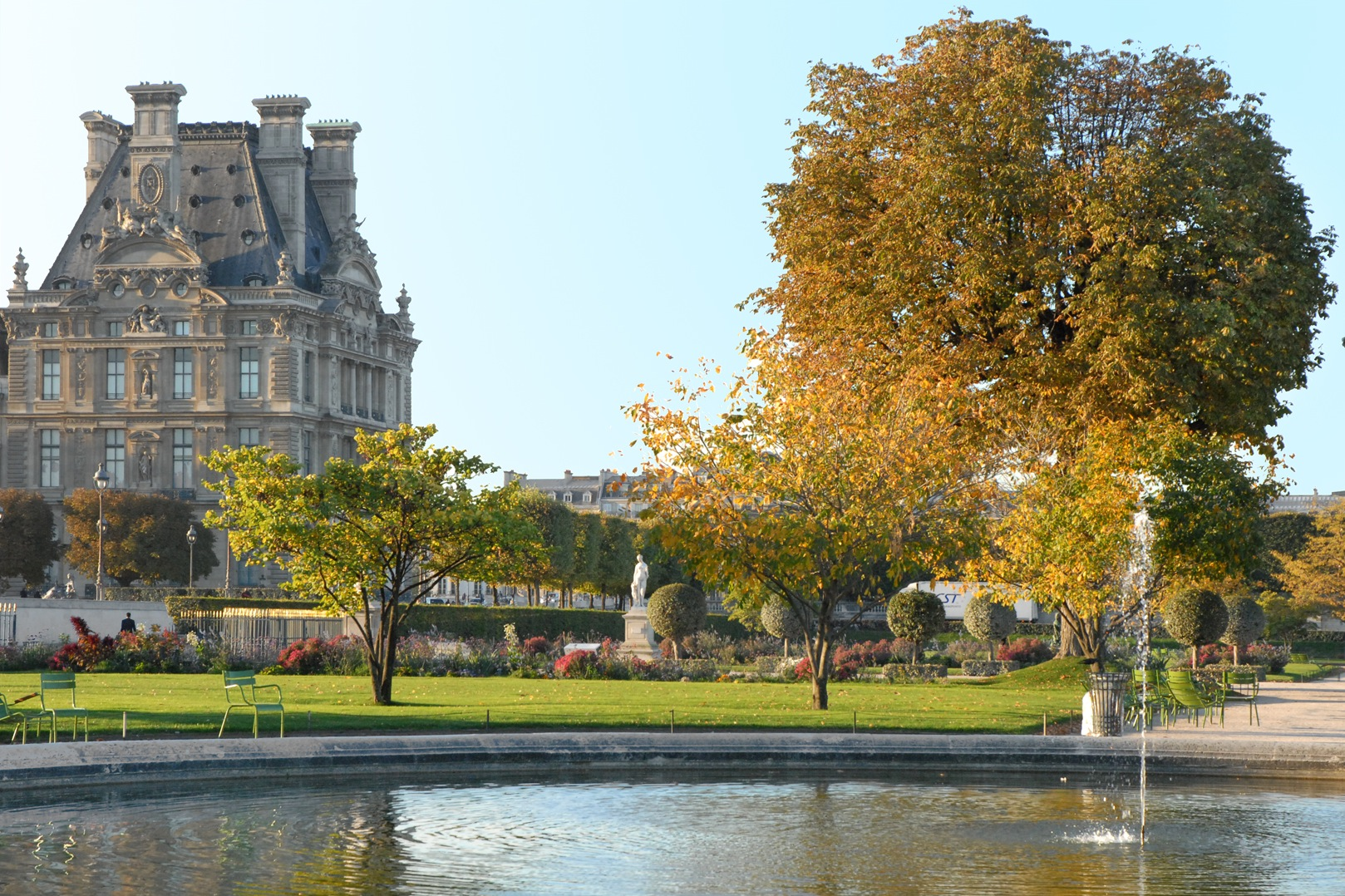 File le jardin des tuileries et le pavillon de for France jardin