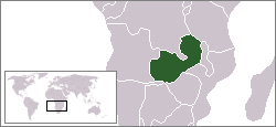 Location of Zambia