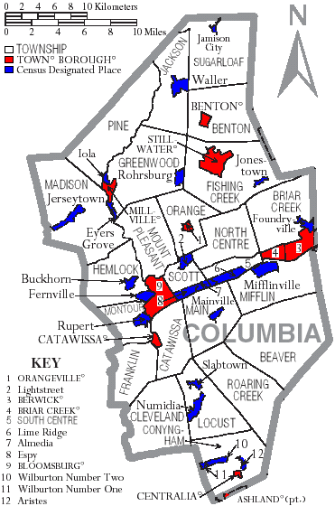 Townships Boroughs County Evolution For PA Counties - Map of pa towns