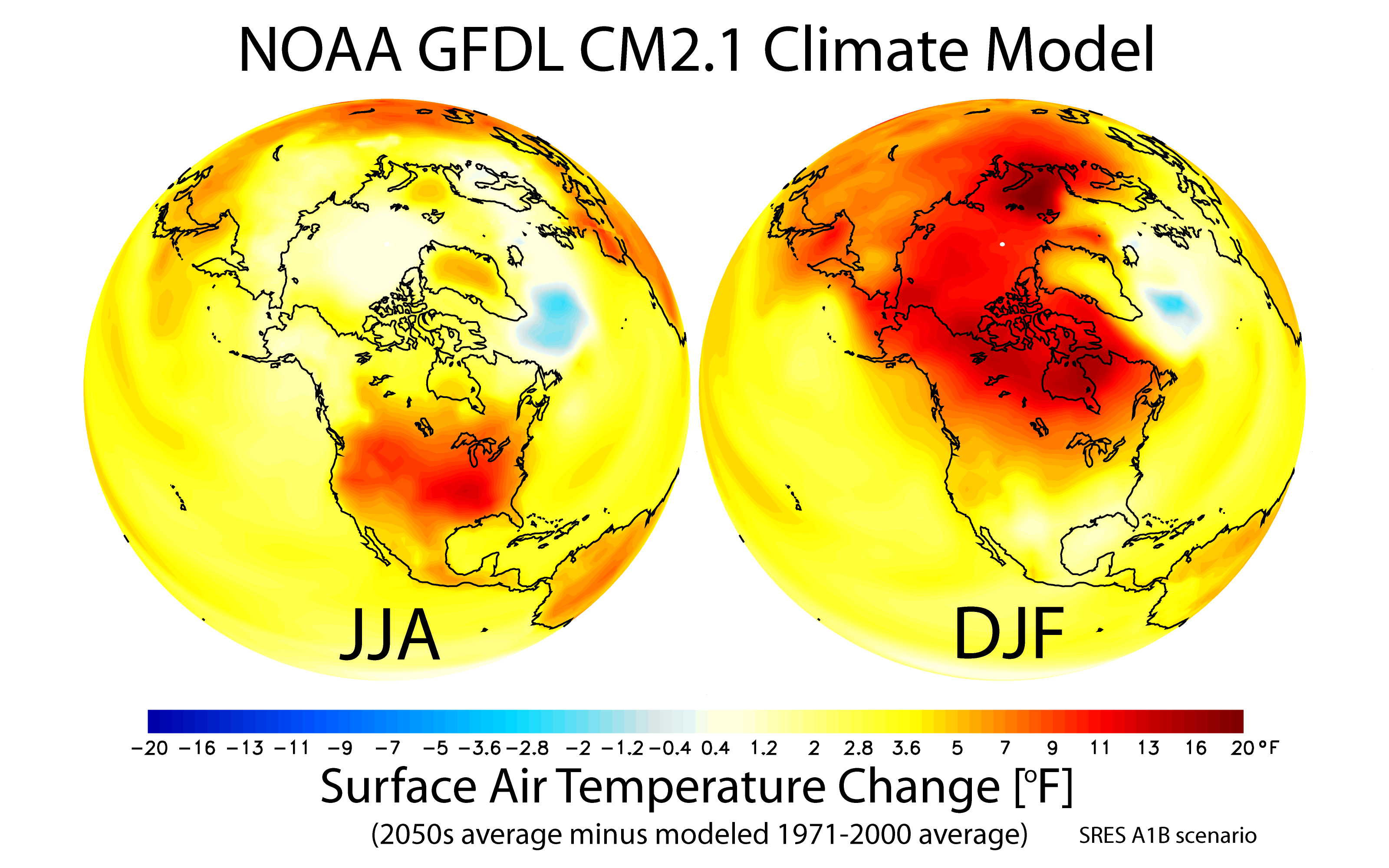FileMaps Of Projected Changes In Northern Hemisphere Seasonal - North america air temperature map