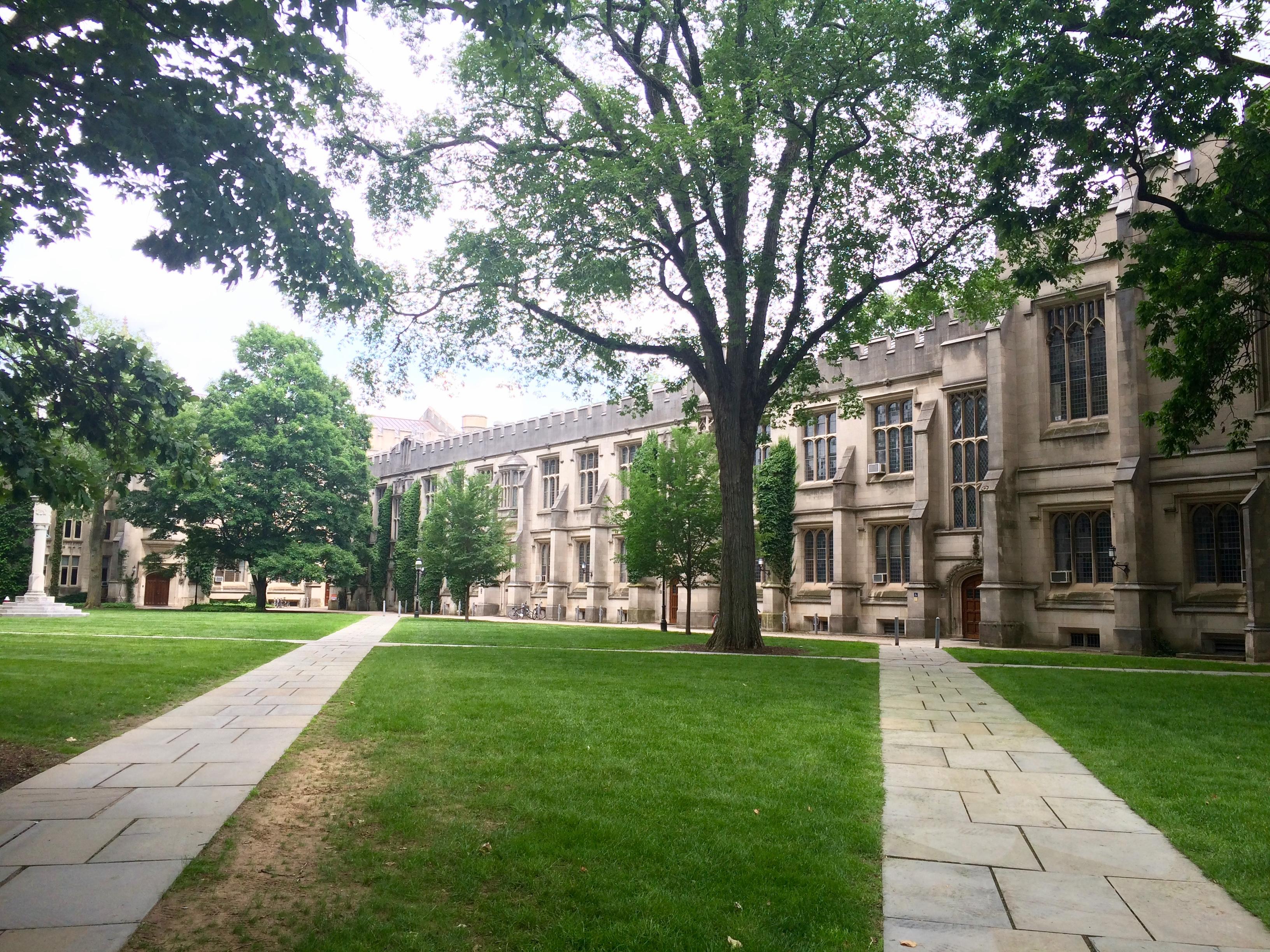 Outside McCosh Hall.