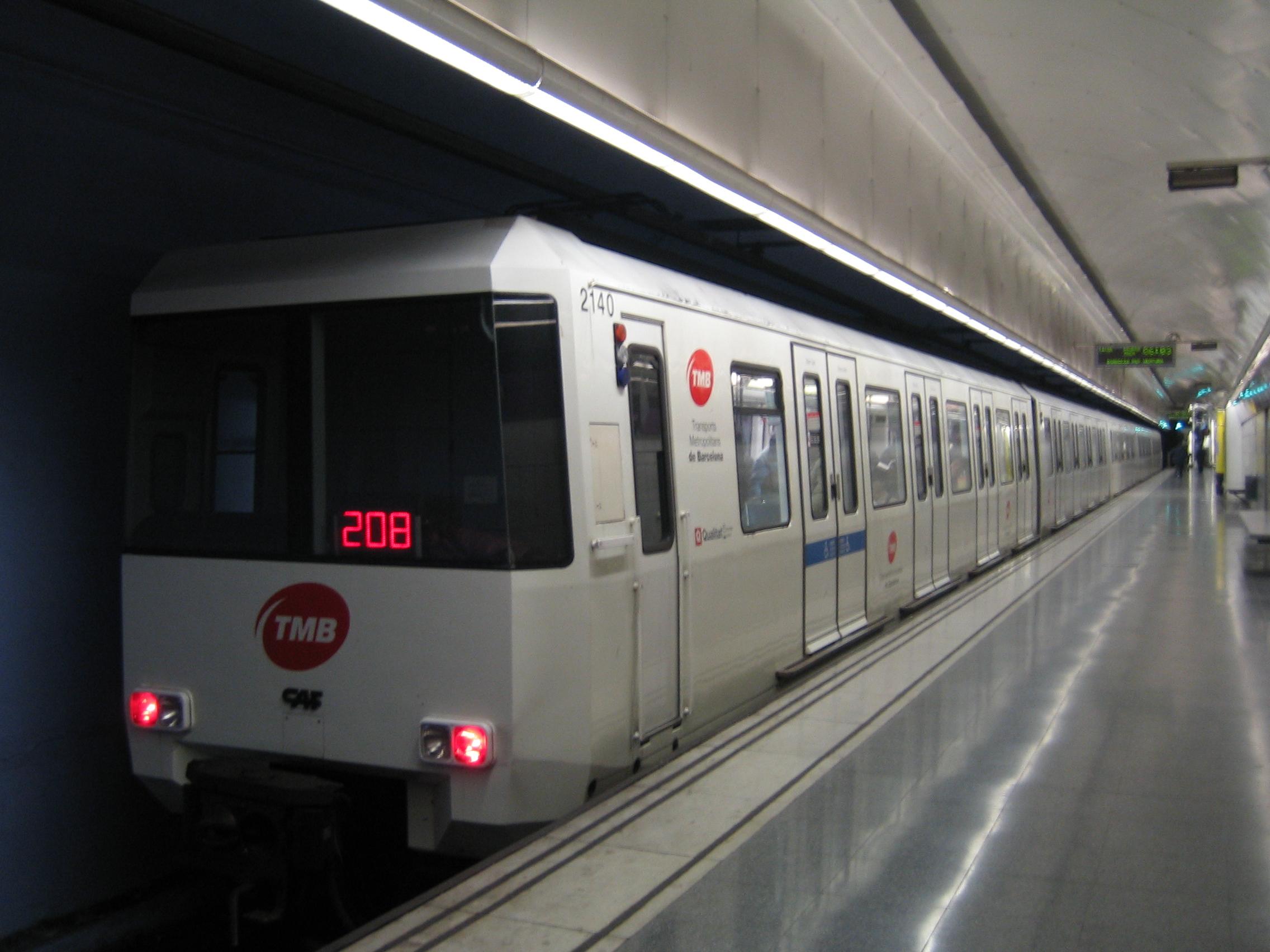Барселона карта метро
