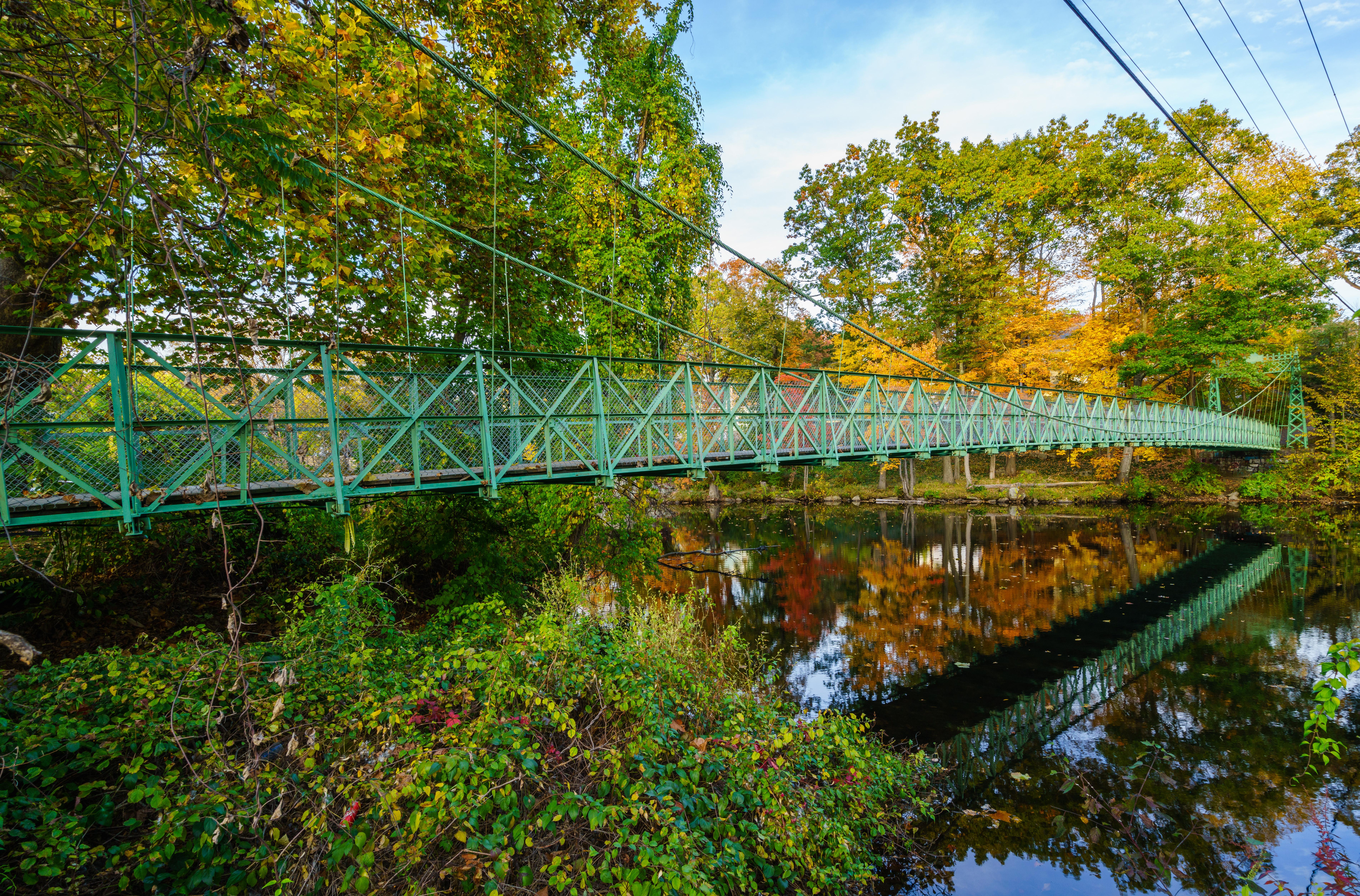 Suspension Bridge, Milford, New Hampshire