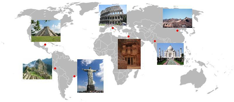 New and Old Seven Wonders of the World