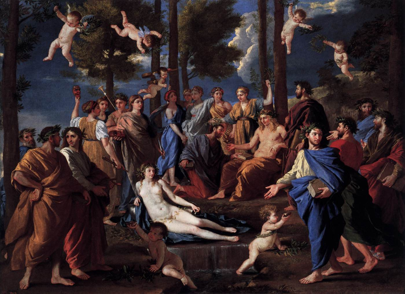 File:Nicolas Poussin - Apollo and the Muses (Parnassus) - WGA18307.jpg -  Wikimedia Commons