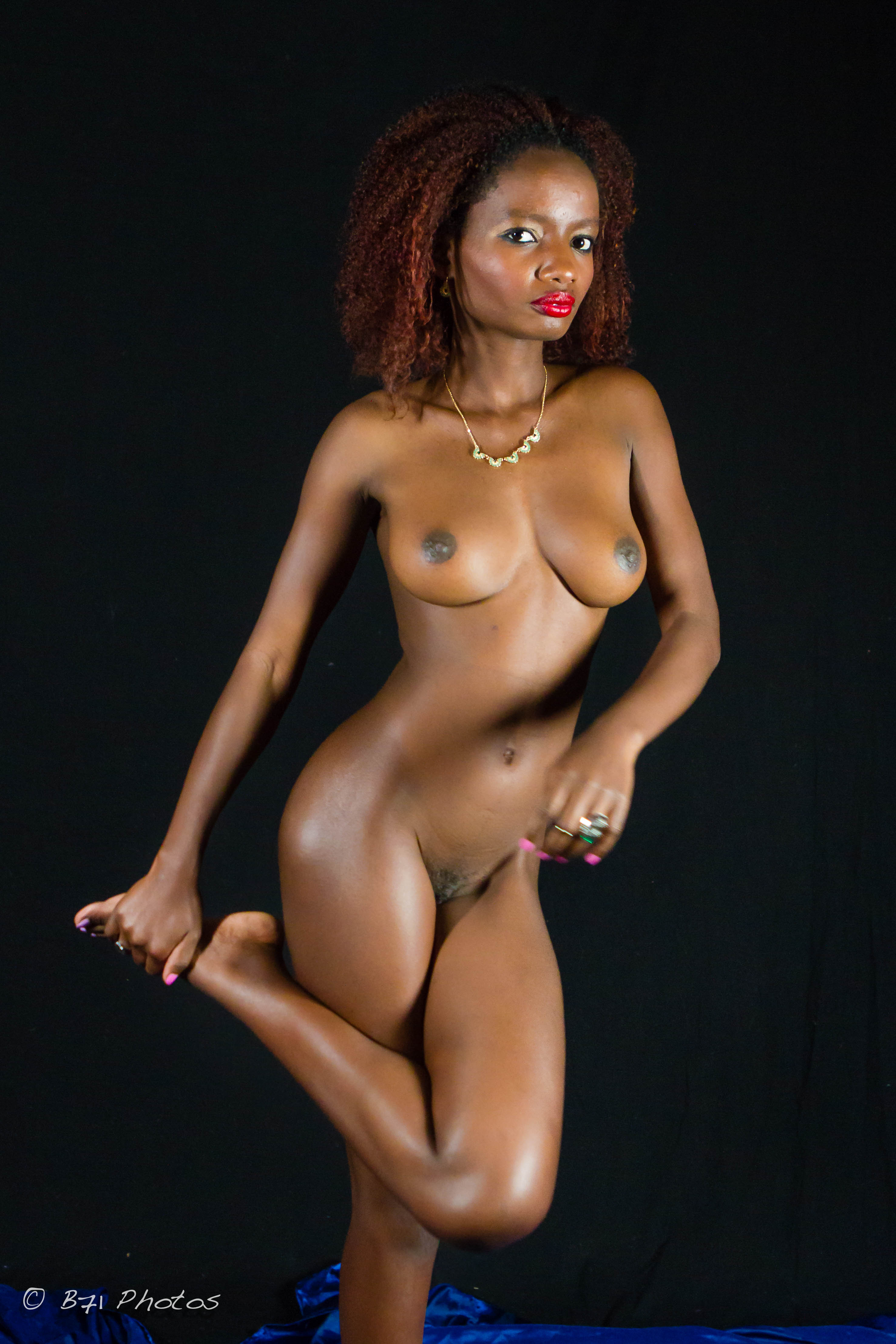 South African Black Nude Woman
