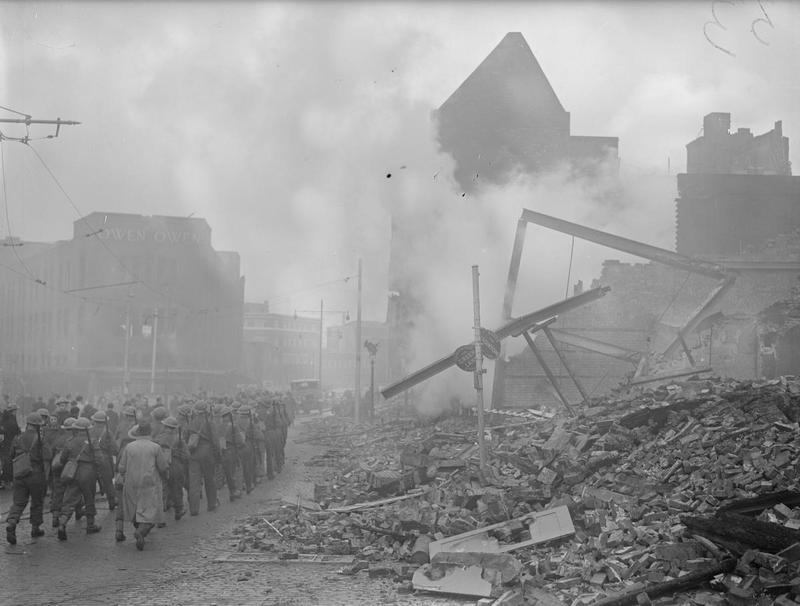Operation Moonlight Sonata- Bomb Damage in Coventry, November 1940 H5599.jpg
