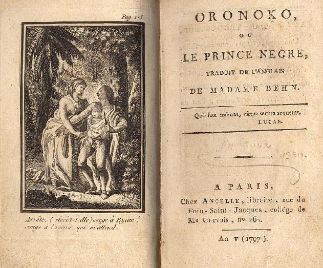 What is Behn's representation of slavery in the novel Oroonoko?