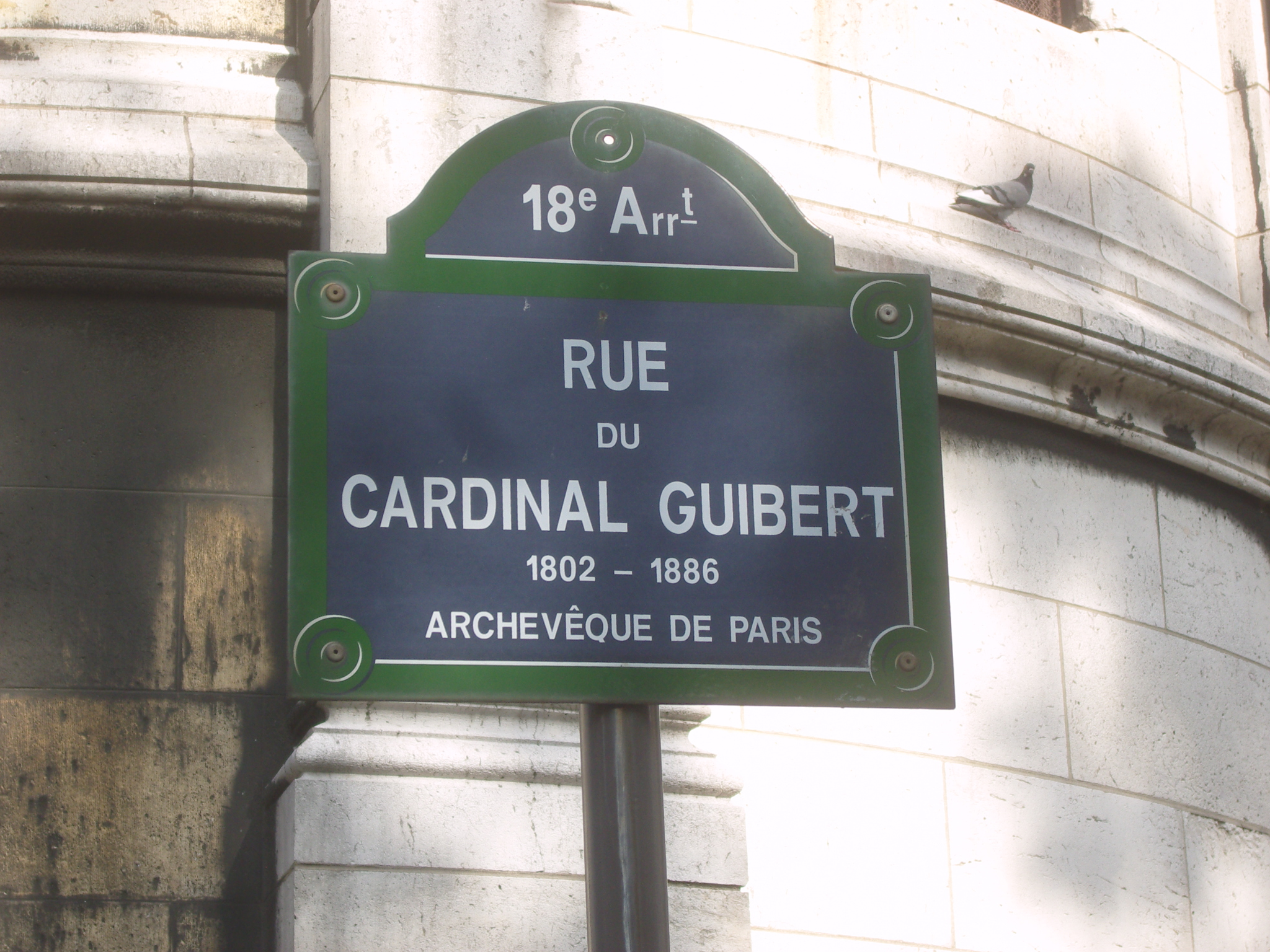 File paris 18e rue du cardinal guibert plaque de rue wikimedia co - Plaque de melamine a coller ...