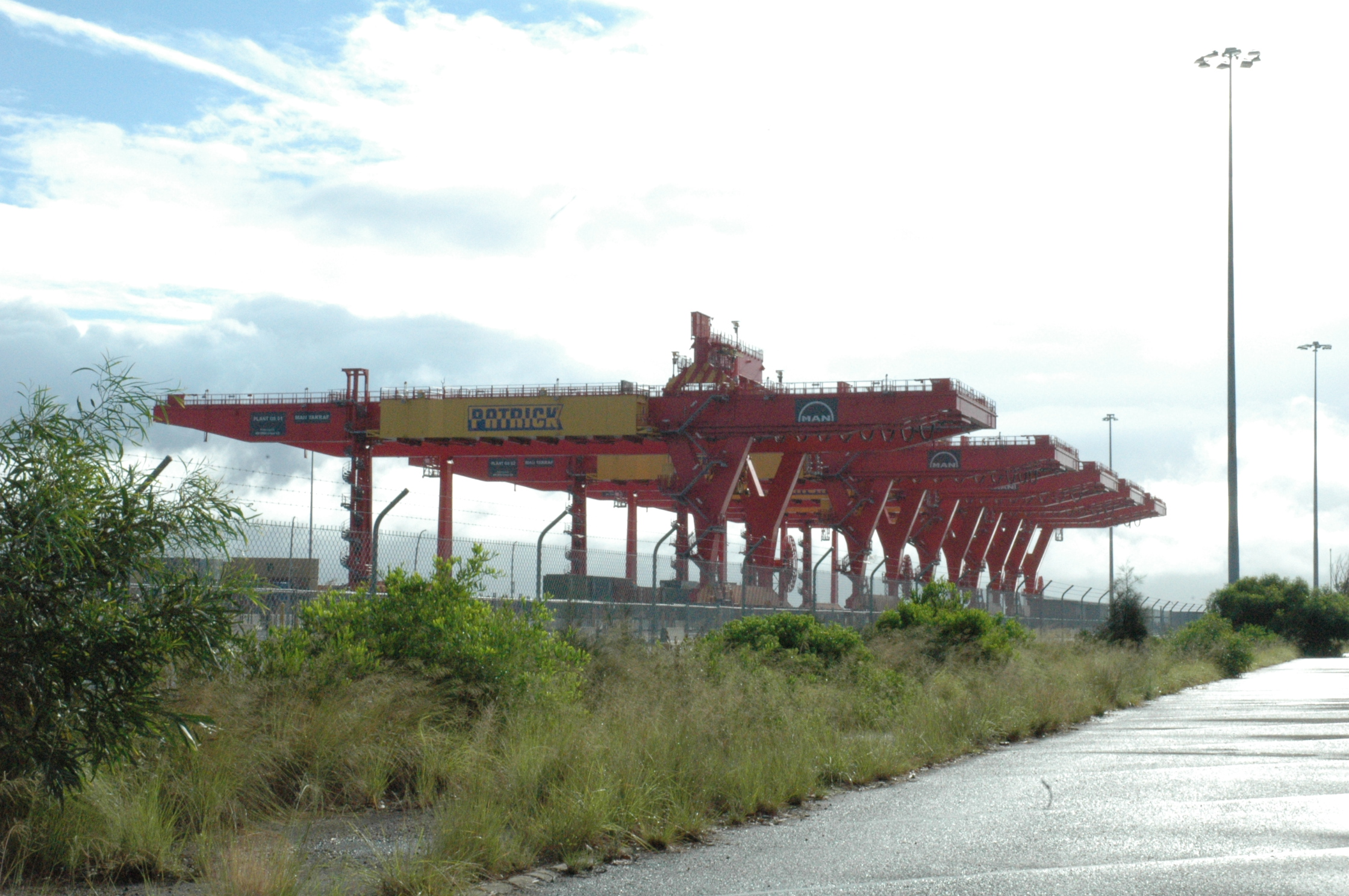 A MAN AG container crane belonging to Patrick Corporation at Port Botany, New South Wales, Australia.