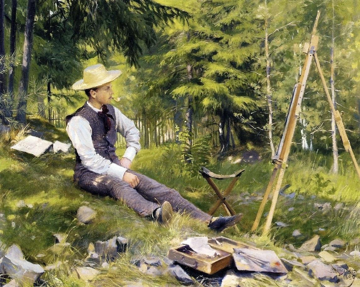 File:Paul Gustave Fischer - The Artist Painting En Plein Air.jpg