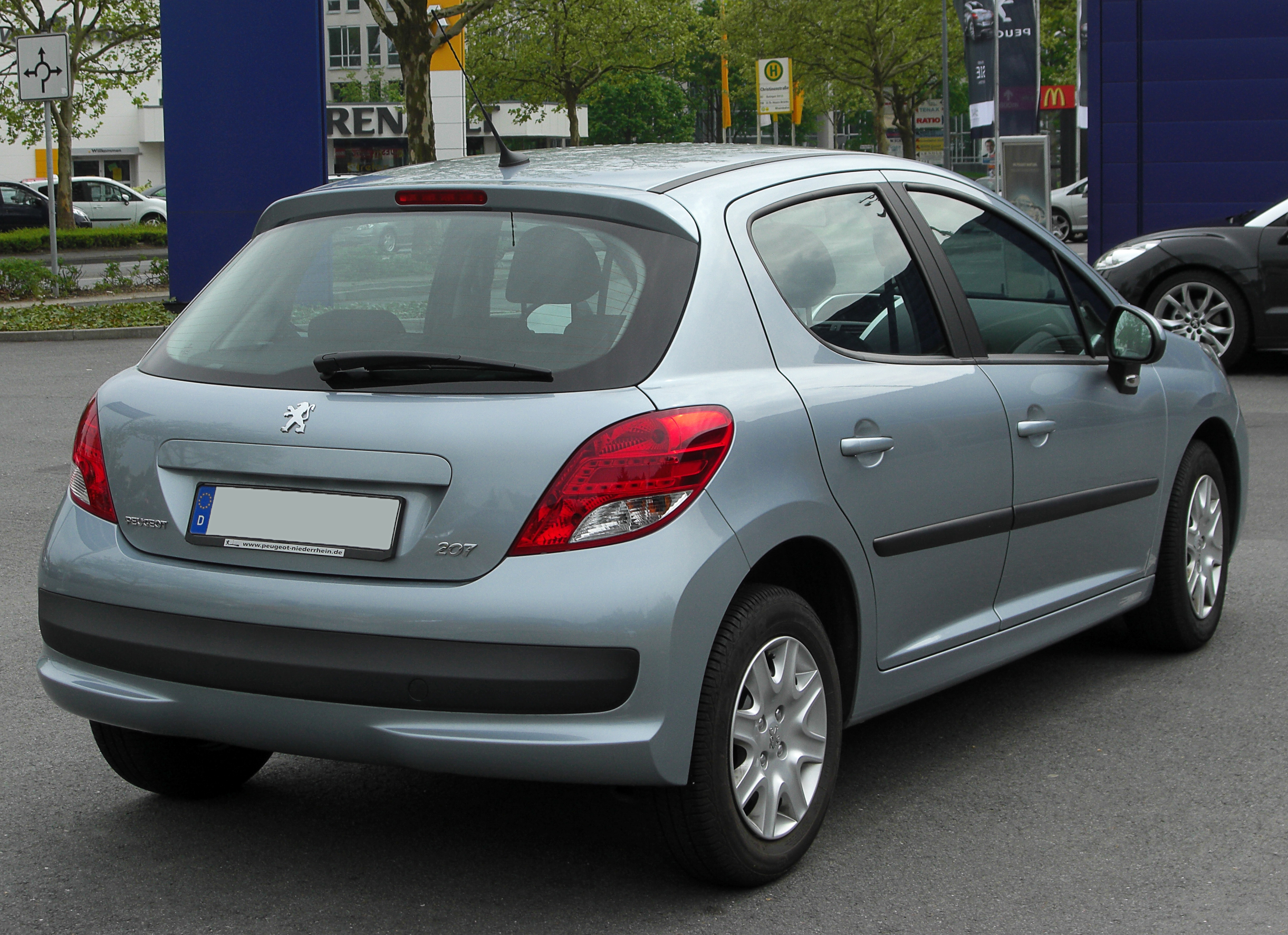 file peugeot 207 facelift rear wikimedia commons. Black Bedroom Furniture Sets. Home Design Ideas