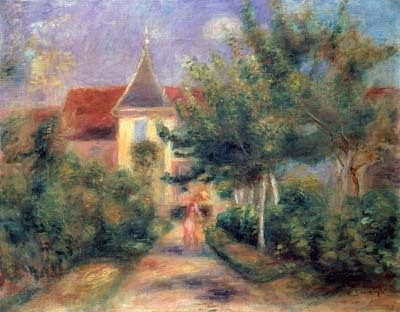 Essoyes (Эссуа) на картине Ренуара - Essoyes (Эссуа), Шампань, Франция - достопримечательности, Champagne-Ardenne (Регион Шампань - Арденны)