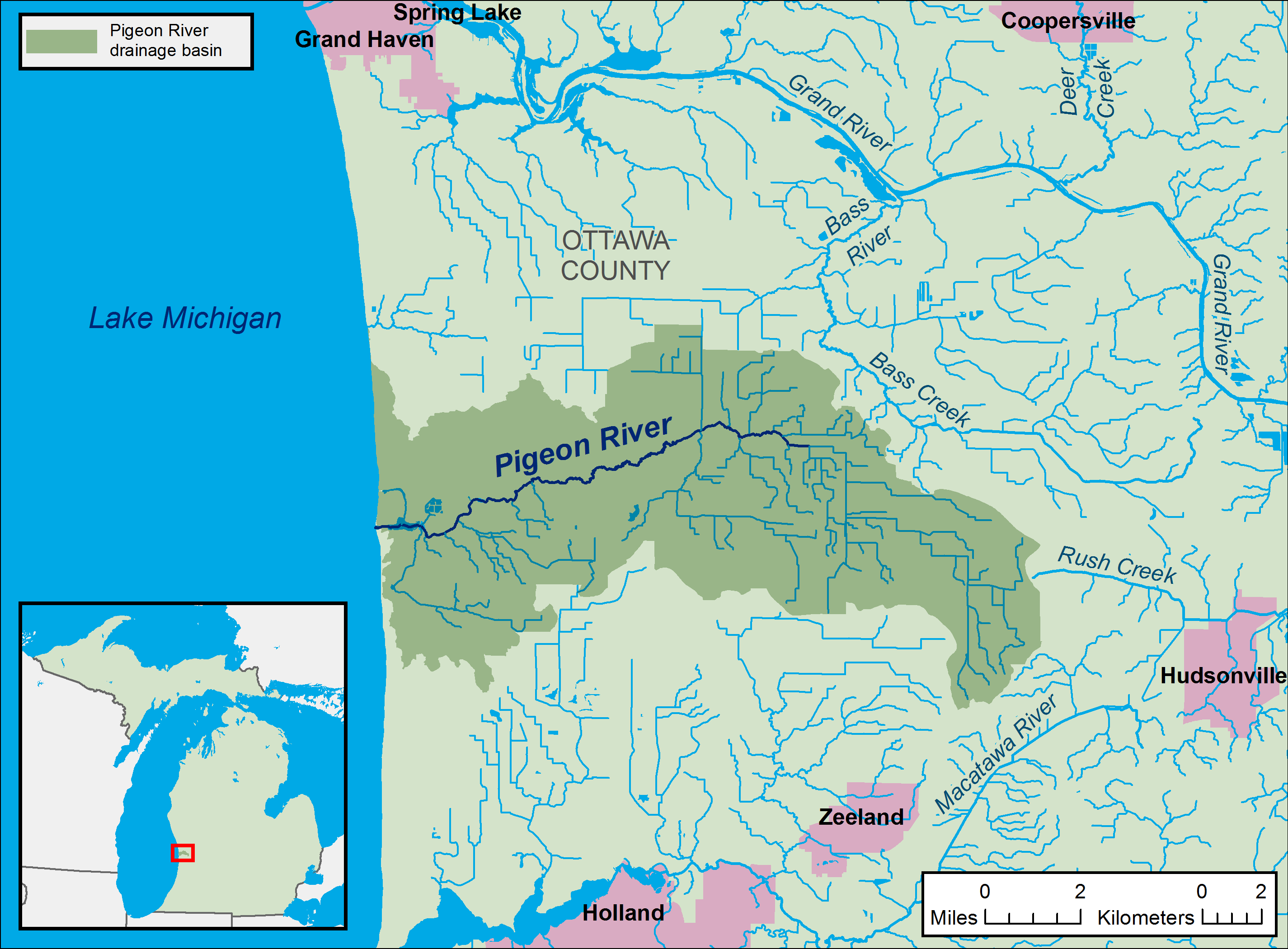 File:Pigeon River Ottawa County Michigan map.png   Wikipedia