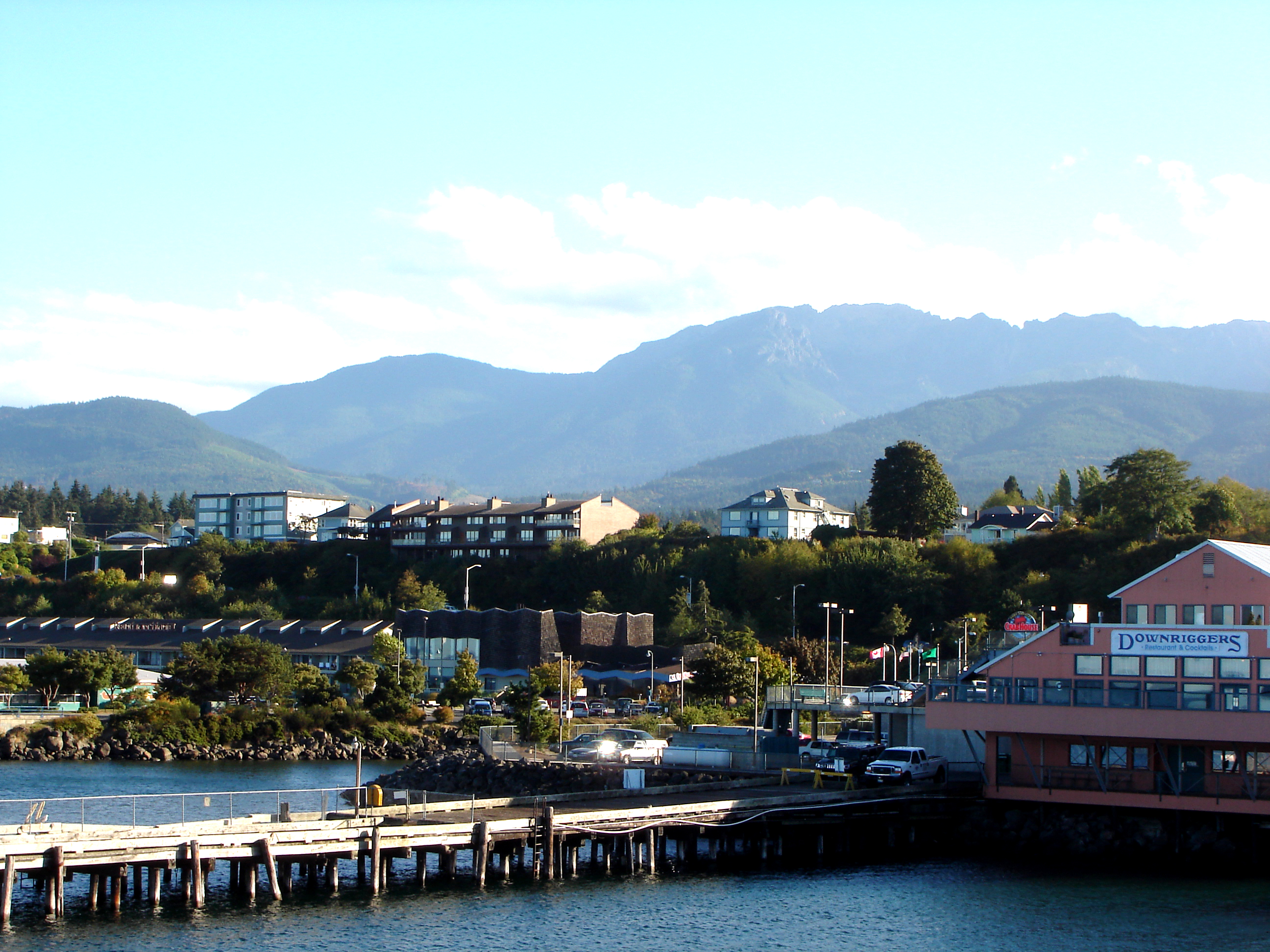 Port Angeles harbor and the Olympic Mountains