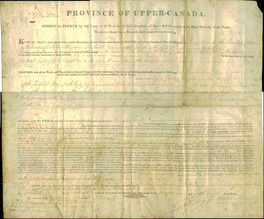 Land Deeds Upper-canada Land Deed.jpg