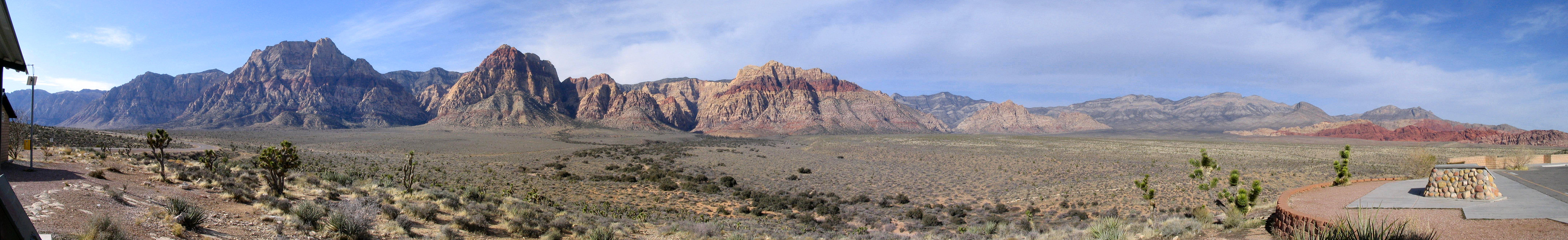 Panorama of Red Rock taken from an overlook point (Zoom View)