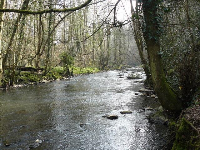 River Frome below Frenchay - geograph.org.uk - 1216832