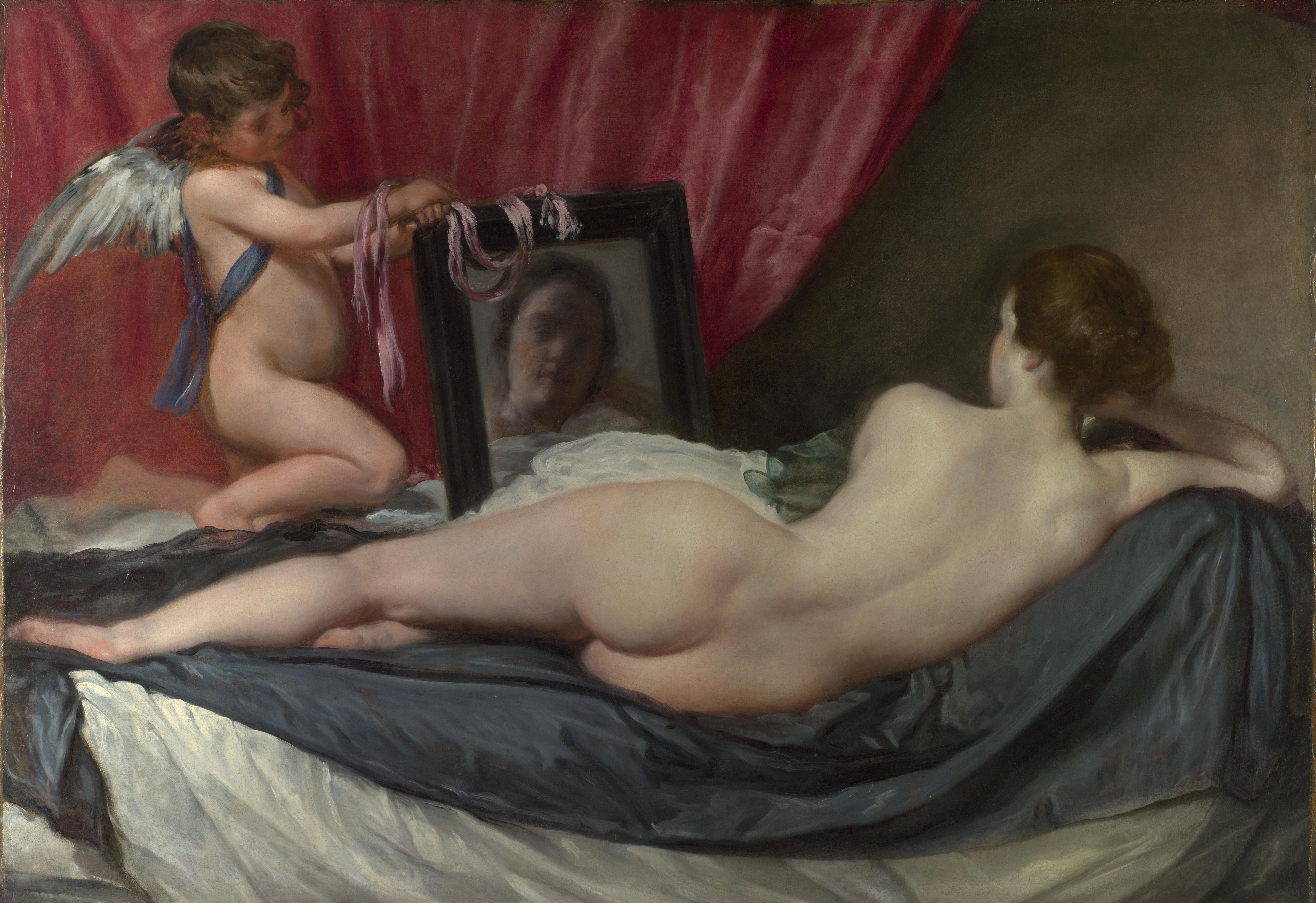 镜前的维纳斯 The Rokeby Venus(视频)委拉斯开兹,Velazquez, Diego (Rodriguez de Silva) - 水木白艺术坊 - 贵阳画室 高考美术培训