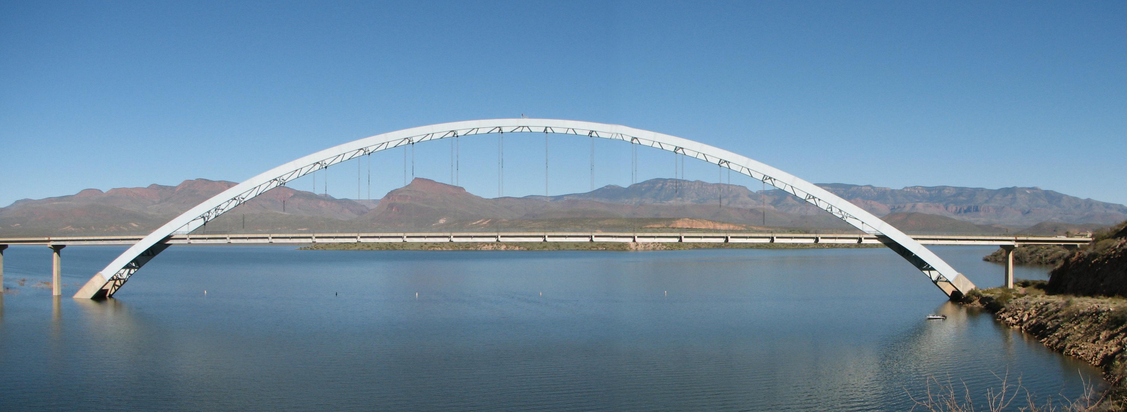 Roosevelt Lake Bridge Wikimedia Commons