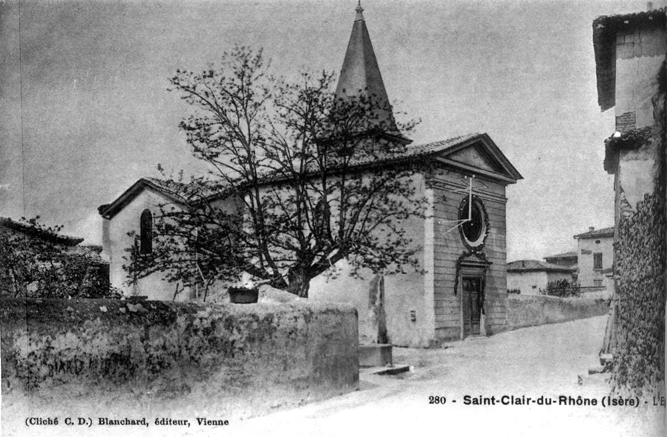 File saint clair du rhone l 39 glise en 1906 p194 de l 39 is re les 533 communes clich c d - Garage bonneton st clair du rhone ...