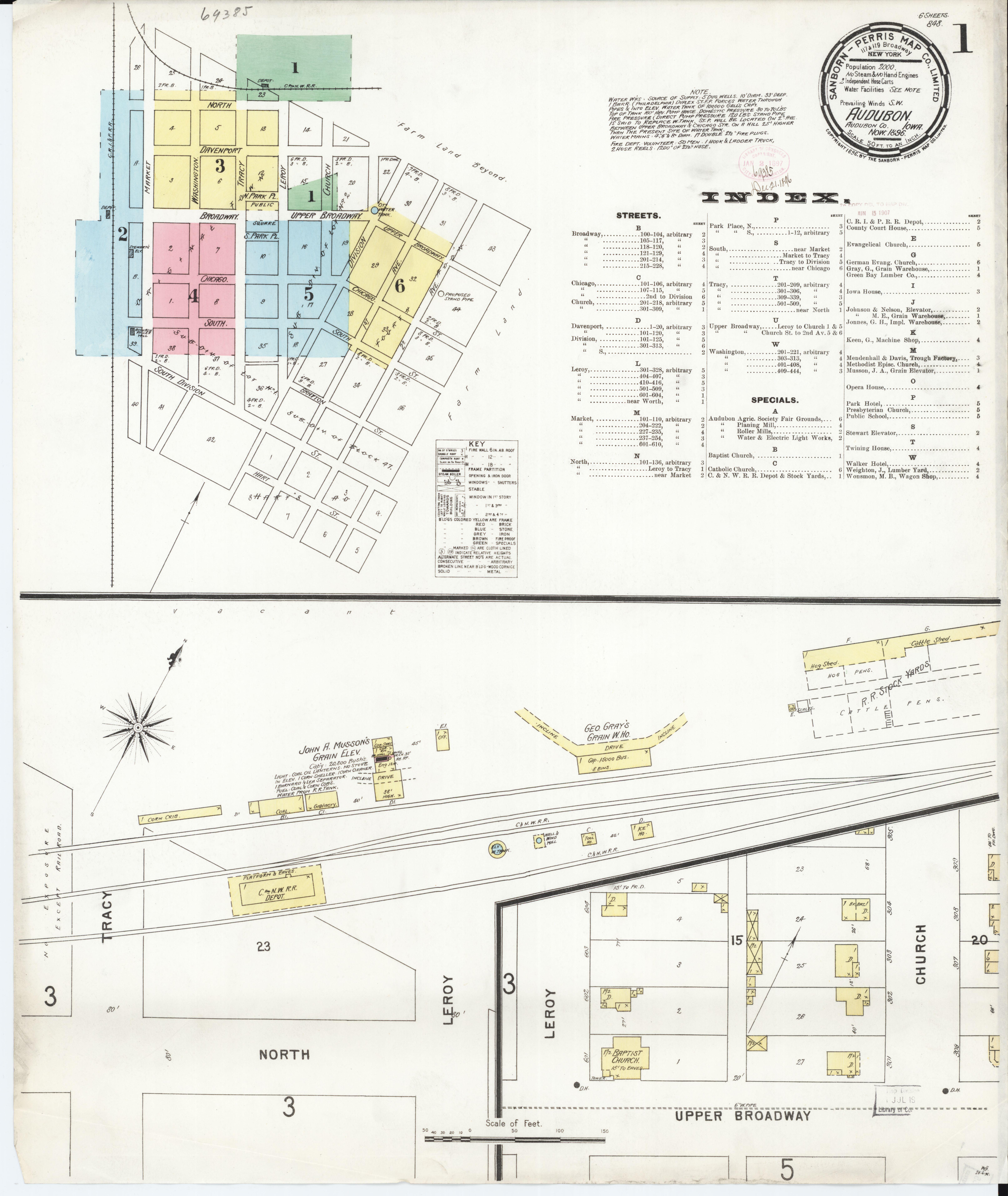 Audubon Iowa Map.File Sanborn Fire Insurance Map From Audubon Audubon County Iowa