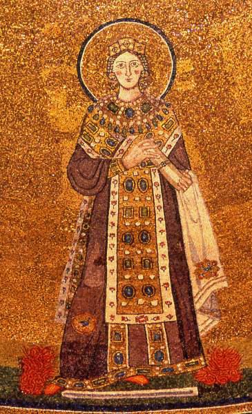 Mosaico di Sant'Agnese nella Basilica di Sant'Agnese fuori le mura, Roma. dans immagini sacre Santa_Agnese_-_mosaico_Santa_Agnese_fuori_le_mura