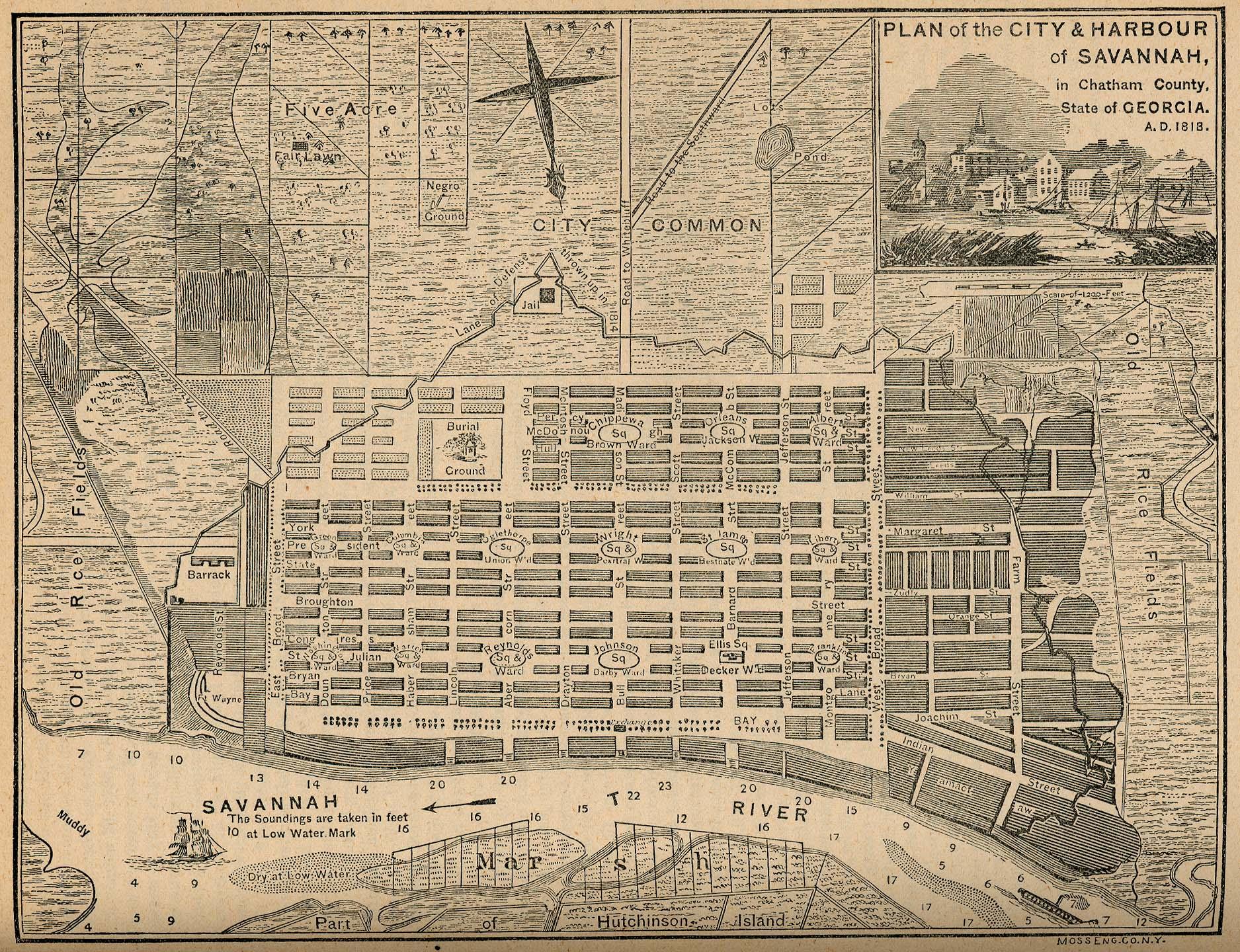Savannah GA Map
